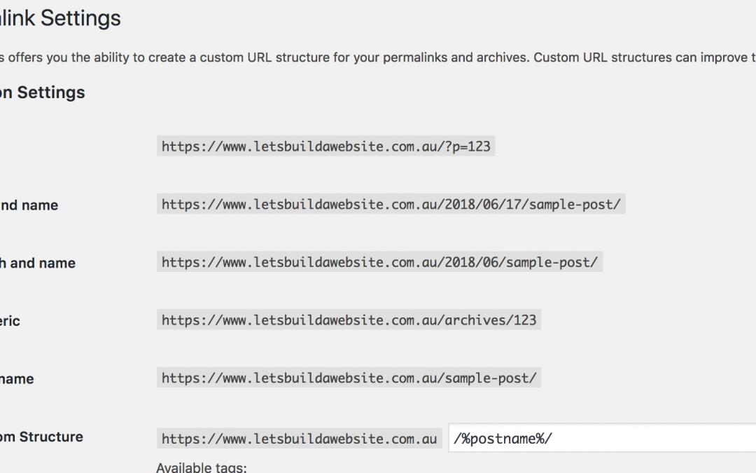 WordPress Permalinks not working!