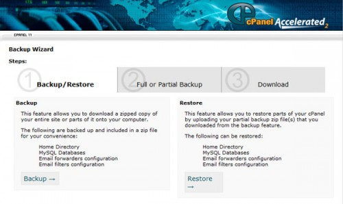 backup with cpanel