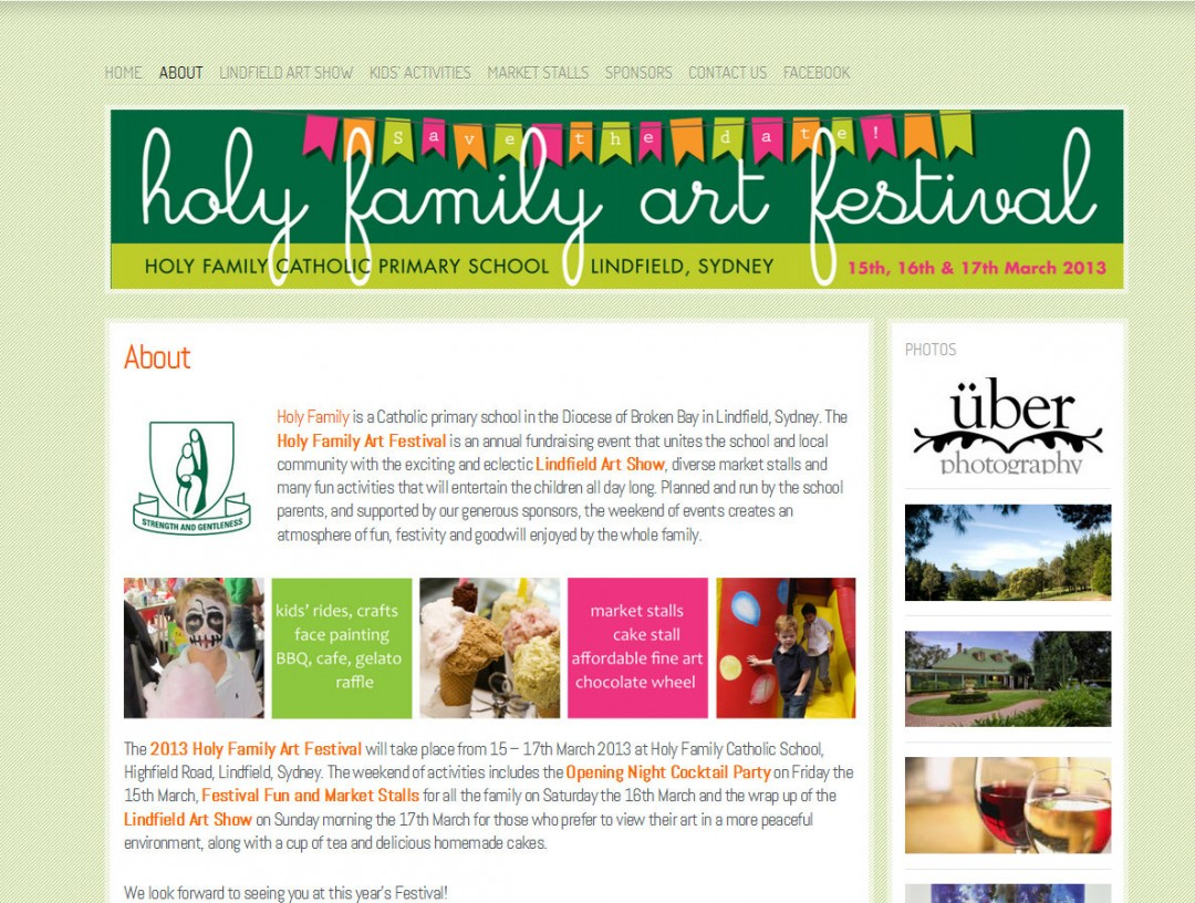 Holy Family Art Festival 2014
