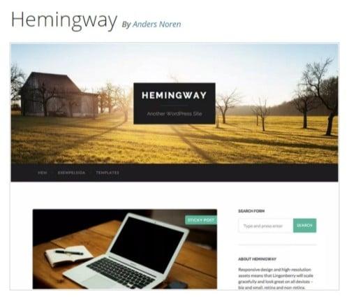 Hemingway — Free WordPress Themes