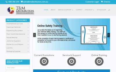 TM Distribution – eCommerce website