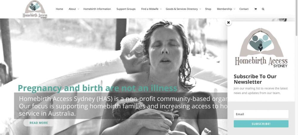 Homebirth Access Sydney