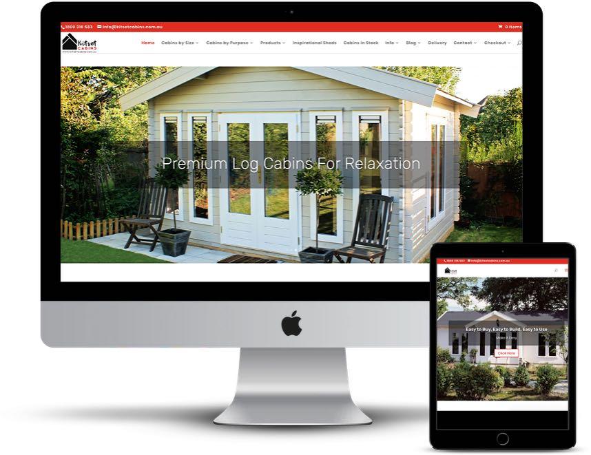 Kitset Cabins – Website Design & Training